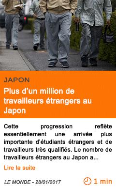 Economie plus d un million de travailleurs etrangers au japon