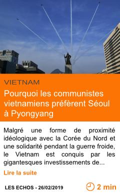 Economie pourquoi les communistes vietnamiens preferent seoul a pyongyang page001