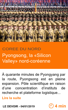 Economie pyongsong la silicon valley nord coreenne page001