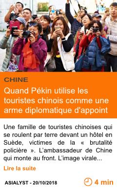 Economie quand pekin utilise les touristes chinois comme une arme diplomatique d appoint page001