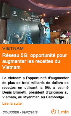 Economie reseau 5g opportunite pour augmenter les recettes du vietnam