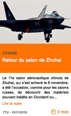 Economie retour du salon de zhuhai