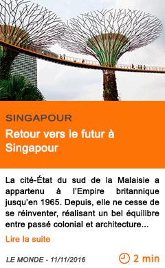 Economie retour vers le futur a singapour