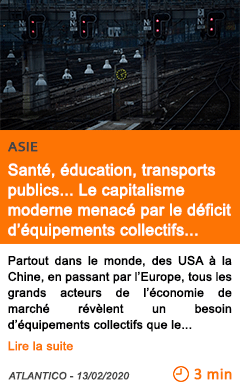 Economie sante education transports publics