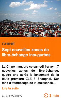 Economie sept nouvelles zones de libre echange inaugurees