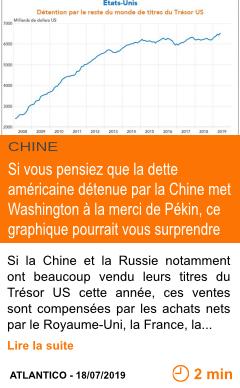 Economie si vous pensiez que la dette americaine detenue par la chine met washington a la merci de pekin ce graphique pourrait vous surprendre page001
