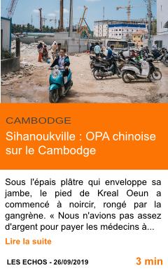 Economie sihanoukville opa chinoise sur le cambodge page001