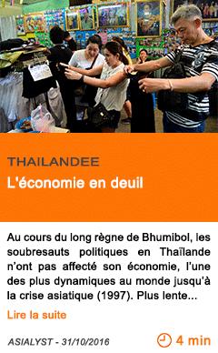 Economie thailande l economie en deuil