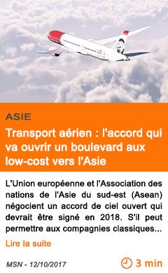 Economie transport aerien l accord qui va ouvrir un boulevard aux low cost vers l asie