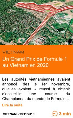 Economie un grand prix de formule 1 au vietnam en 2020 page001 1