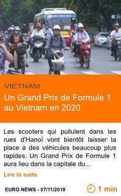 Economie un grand prix de formule 1 au vietnam en 2020 page001