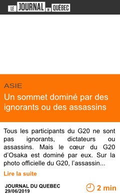 Economie un sommet domine par des ignorants ou des assassins page001