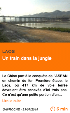 Economie un train dans la jungle