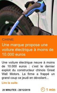 Economie une marque propose une voiture electrique a moins de 10 000 euros page001