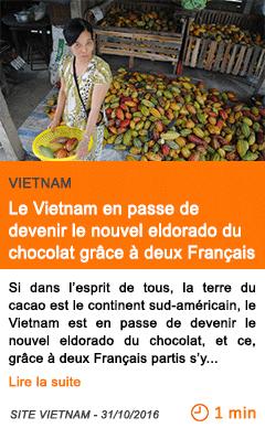 Economie vietnam le vietnam en passe de devenir le nouvel eldorado du chocolat grace a deux francais