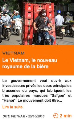 Economie vietnam le vietnam le nouveau royaume de la biere