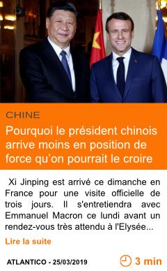 Economie xi jinping a paris pourquoi le president chinois arrive moins en position de force qu on pourrait le croire page001