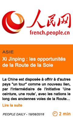 Economie xi jinping les opportunites de la route de la soie 1