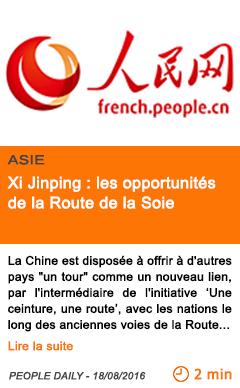 Economie xi jinping les opportunites de la route de la soie