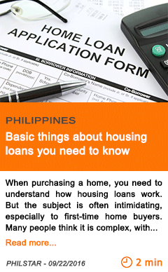 Economy basic things about housing loans you need to know