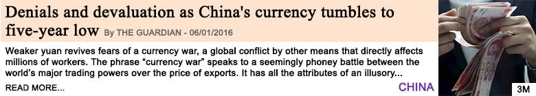 Economy denials and devaluation as china s currency tumbles to five year low