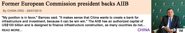 Economy former european commission president backs aiib