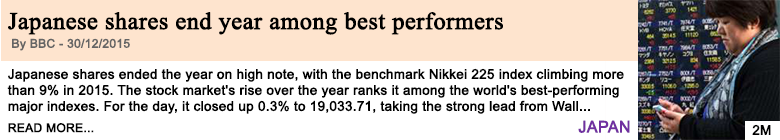 Economy japanese shares end year among best performers