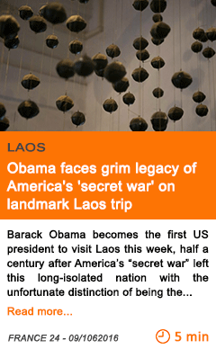 Economy obama faces grim legacy of america s secret war on landmark laos trip
