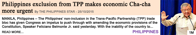 Economy philippines exclusion from tpp makes economic cha cha more urgent