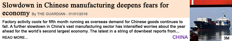 Economy slowdown in chinese manufacturing deepens fears for economy