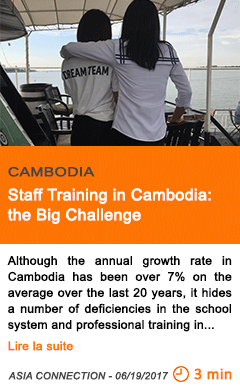 Economy staff training in cambodia the big challenge