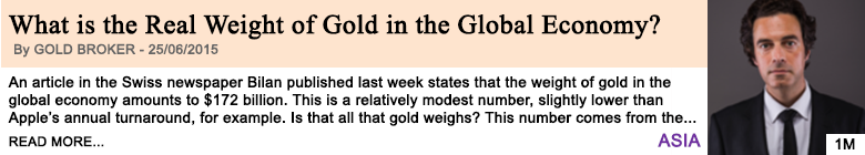 Economy what is the real weight of gold in the global economy