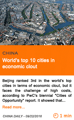 Economy world s top 10 cities in economic clout