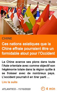 Econopmie ces nations asiatiques que la chine effraie pourraient e tre un formidable atout pour l occident