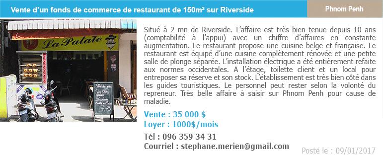 Petites annonces 6 fonds de commerce restaurant riverside 1