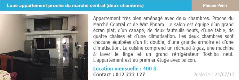 Petites annonces immobilieres 8 location appartement marche central phnom penh 1
