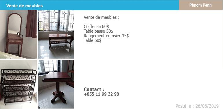 Petites annonces vente de meubles demenagement