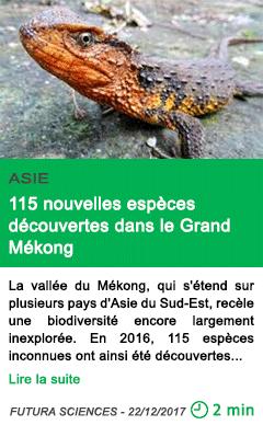 Science 115 nouvelles especes decouvertes dans le grand mekong
