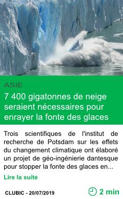 Science 7 400 gigatonnes de neige seraient necessaires pour enrayer la fonte des glaces page001