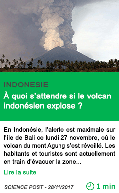 Science a quoi s attendre si le volcan indonesien explose