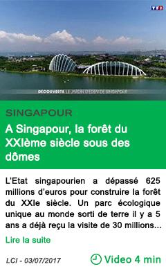Science a singapour la foret du xxieme siecle sous des domes