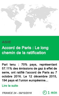 Science accord de paris le long chemin de la ratification