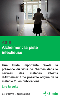 Science alzheimer la piste infectieuse