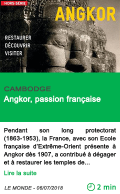 Science angkor passion francaise