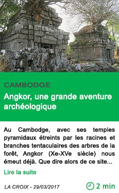 Science angkor une grande aventure archeologique