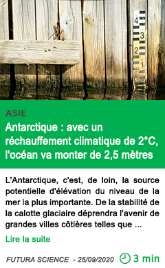 Science antarctique avec un re chauffement climatique de 2 c l oce an va monter de 2 5 me tres