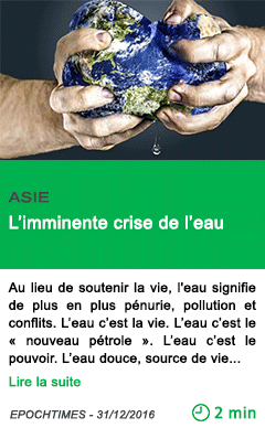 Science asie l imminente crise de l eau