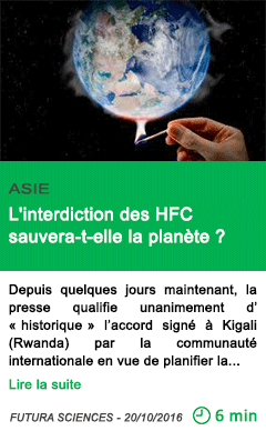 Science asie l interdiction des hfc sauvera t elle la planete