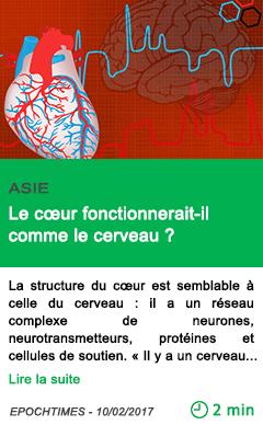 Science asie le c ur fonctionnerait il comme le cerveau