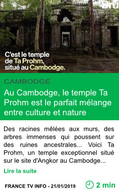 Science au cambodge le temple ta prohm est le parfait melange entre culture et nature page001